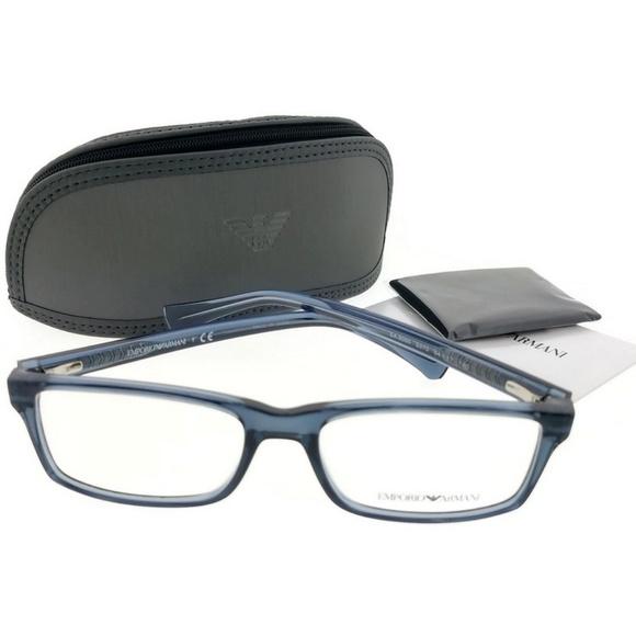 198b0aba6af EA3065-5373-54 Men s blue Frame Eyeglasses. NWT. Emporio Armani